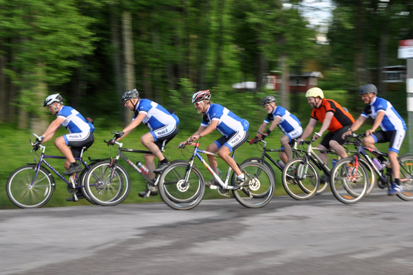 Cykling med Muskö IF. Foto: Bengt Grönkvist